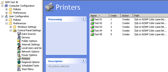 Automate Group Policy Preferences printer-management using