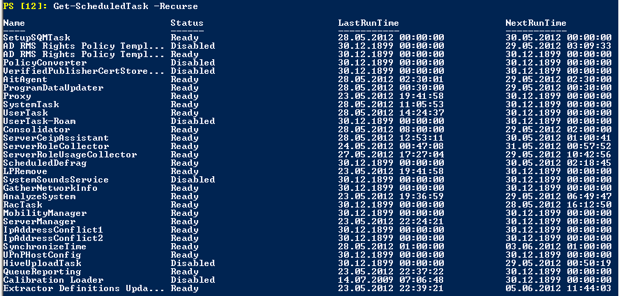 Working with scheduled tasks from Windows PowerShell « blog